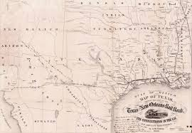 Railroad Map Houston East And West Texas Railway The Handbook Of Texas Online