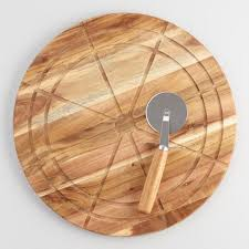 cutting board plates wood pizza cutting board and marble pizza cutter set world market