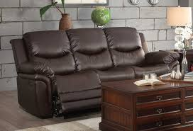 Brown Bonded Leather Sofa Homelegance St Louis Park Reclining Sofa Set Dark Brown Bonded