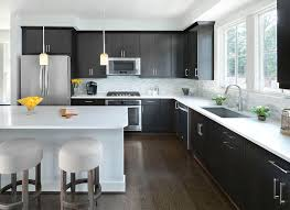 Design A Kitchen Modern Large Kitchen Layouts Design With Black Cabinets Also L