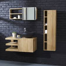 wall mounted bathroom vanity cabinet typo teak furniture tikamoon