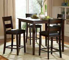 high top table and stools dark wood high kitchen table kitchen tables design