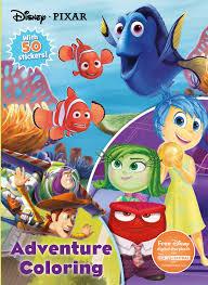 disney pixar adventure coloring jumbo coloring with 50 stickers