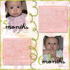 baby book ideas a baby month by month scrapbook page is a must for your