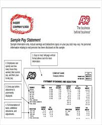 Payroll Statement Template by Employee Payroll Templates Free Premium Templates