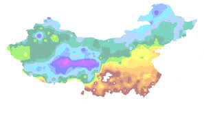 Luoyang China Map by China Interactive First Frost Map