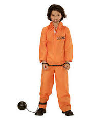 prison jumpsuit costume childs convict prisoner county inmate orange jumpsuit