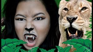 Giraffe Halloween Makeup Lioness Animal Makeup Tutorial Ciel Tamray Youtube