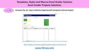 templates styles and macros excel grader solution youtube