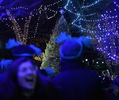 bostonians brave cold for tree lighting boston herald