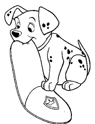 101 dalmatians bite cap coloring pages for kids bgt printable
