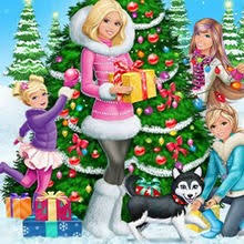 barbie perfect christmas coloring pages kids