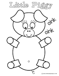 little pig coloring page