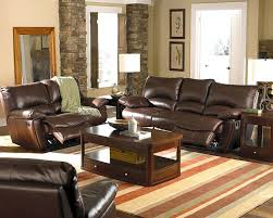 leather reclining sofa loveseat leather reclining sofa and loveseat set dark chocolate color solid