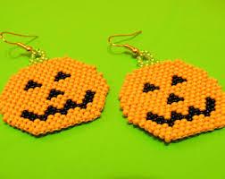 beaded pumpkin etsy
