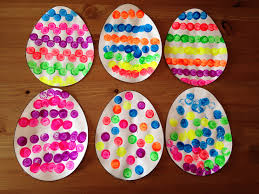 cork painted easter egg craft easter craft preschool craft