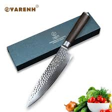 japanese damascus kitchen knives yarenh 8 inch damascus chef knife wood handle best japanese damascus