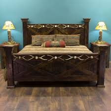 Western Bed Frames Country Style Bed Frames Spectacular Pioneer Weathered