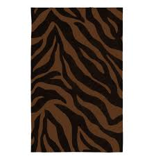 Brown Zebra Area Rug Brown Zebra Rug Home Design Ideas And Pictures