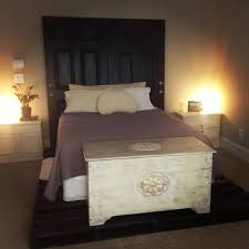 oil rubbed bronze headboard pinterest projects pallet bed frame pallets sanded down and