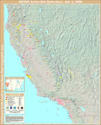 Map Of California Fires Northern California Fire Detection Map California U2022 Mappery
