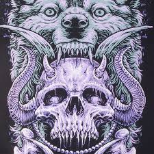 fit for an autopsy wolf skull t shirt fit for an autopsy