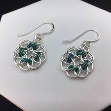 niobium earrings circle of earrings with niobium smh jewelry