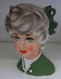 Vintage Lady Head Vases 575 Best Lady Head Vases Images On Pinterest Vintage Planters