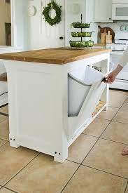 built in kitchen island diy kitchen island with built in trash storage