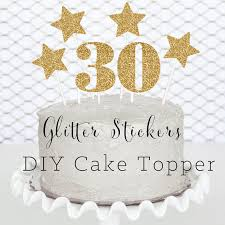 30th birthday cake topper diy 30 birthday decorations by modparty