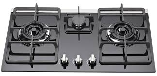 3 Burner Glass Cooktop Kitchen Auto Ignition 3 Burner Gas Stove With Glass Top Heavy