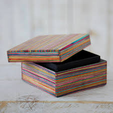 dhari handcrafted striped trinket box by paper high