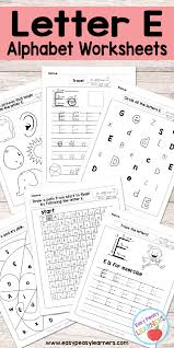 letter e worksheets alphabet series easy peasy learners