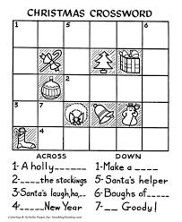 christmas crossword activity sheet santa activity sheet