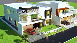 Architectural Design Of 1 Kanal House 3d Front Elevation Com 1 Kanal House Drawing Floor Plans Layout