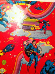 superman wrapping paper 1980 superman wrapping paper cook ranch toys