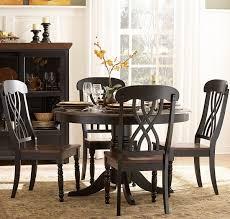 homelegance ohana 5 piece round dining room set in black cherry