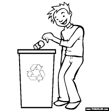 recycle trash and garbage coloring page eco garden pinterest