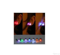light up earring studs multi colors led earring light up bright stud earrings glowing ear