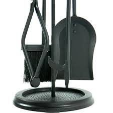 5 piece black wrought iron fireplace tool set f 1070 northline