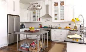 stainless steel kitchen island back to back freestanding kitchen islands transitional kitchen