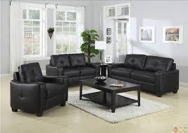 furniture alluring jasmine contemporary black bonded leather