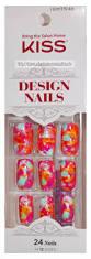 kiss gel fantasy glue on 24 nails kit long kgn51 ebay