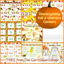 thanksgiving math literacy centers the kinder corner