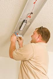 How To Install A Fluorescent Light Fixture Installing Ballast In Fluorescent Light Fixture Stock Image