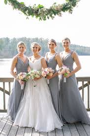gray bridesmaid dress rustic wedding at the ritz carlton at plantation grey