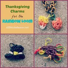 rainbow loom thanksgiving charms