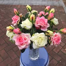 Home Decorating Plants Wedding Decoration Flower Rose Petal Wedding Plastic Home Decor
