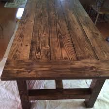 farmhouse table plans sawdust savvy