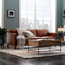 Living Room With Brown Leather Sofa Living Room Brown Leather Couches Camel Design Ideas